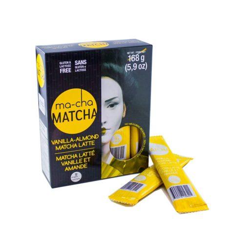 Vanilla-Almond Matcha Sticks