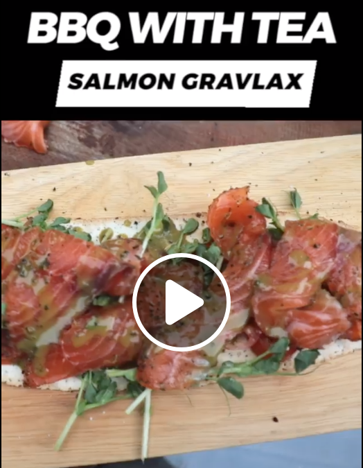 (Video) Cook with Tea! Salmon Gravlax